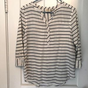 St Johns Bay Striped Blue and White Blouse